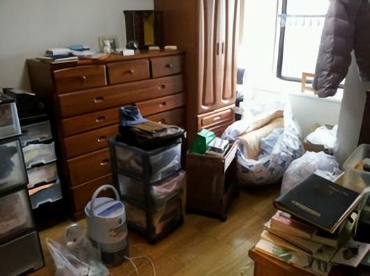 五泉市のお客様 さんの不用品回収前の部屋の画像